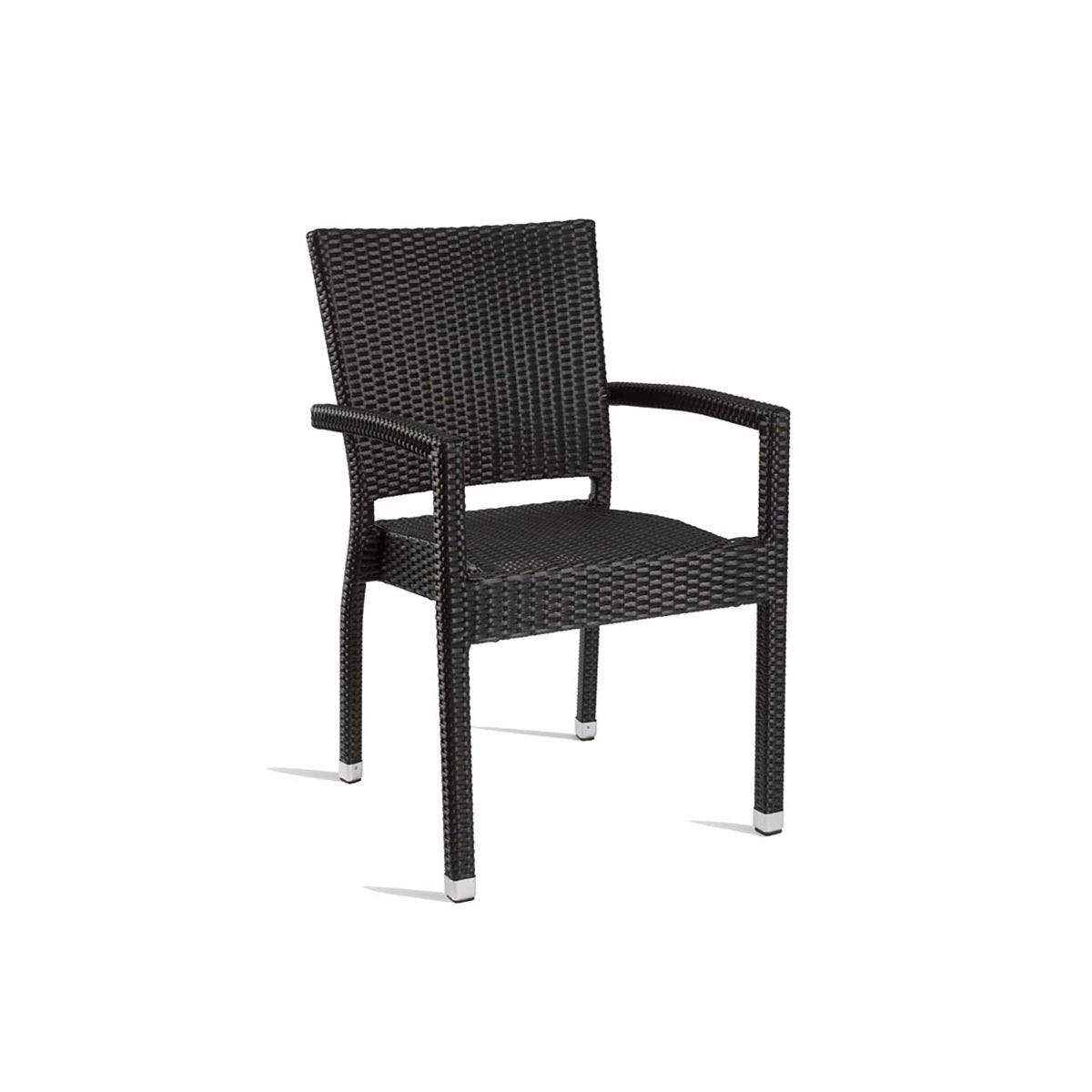 Stag Outdoor Arm Chair, Black