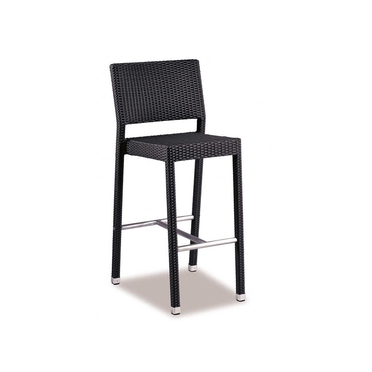 Stag Outdoor Barstool, Black