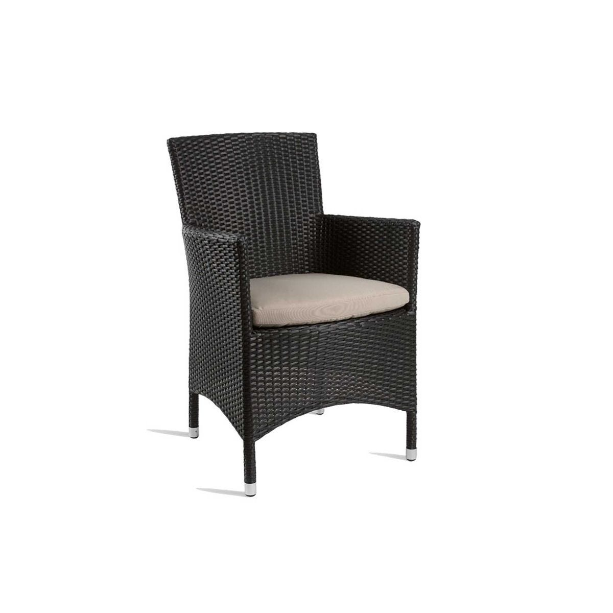 Stag Comfort Outdoor Arm Chair, Black