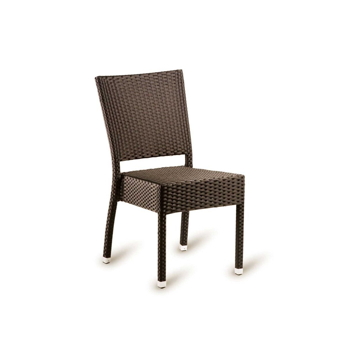 Stag Outdoor Side Chair, Mocca