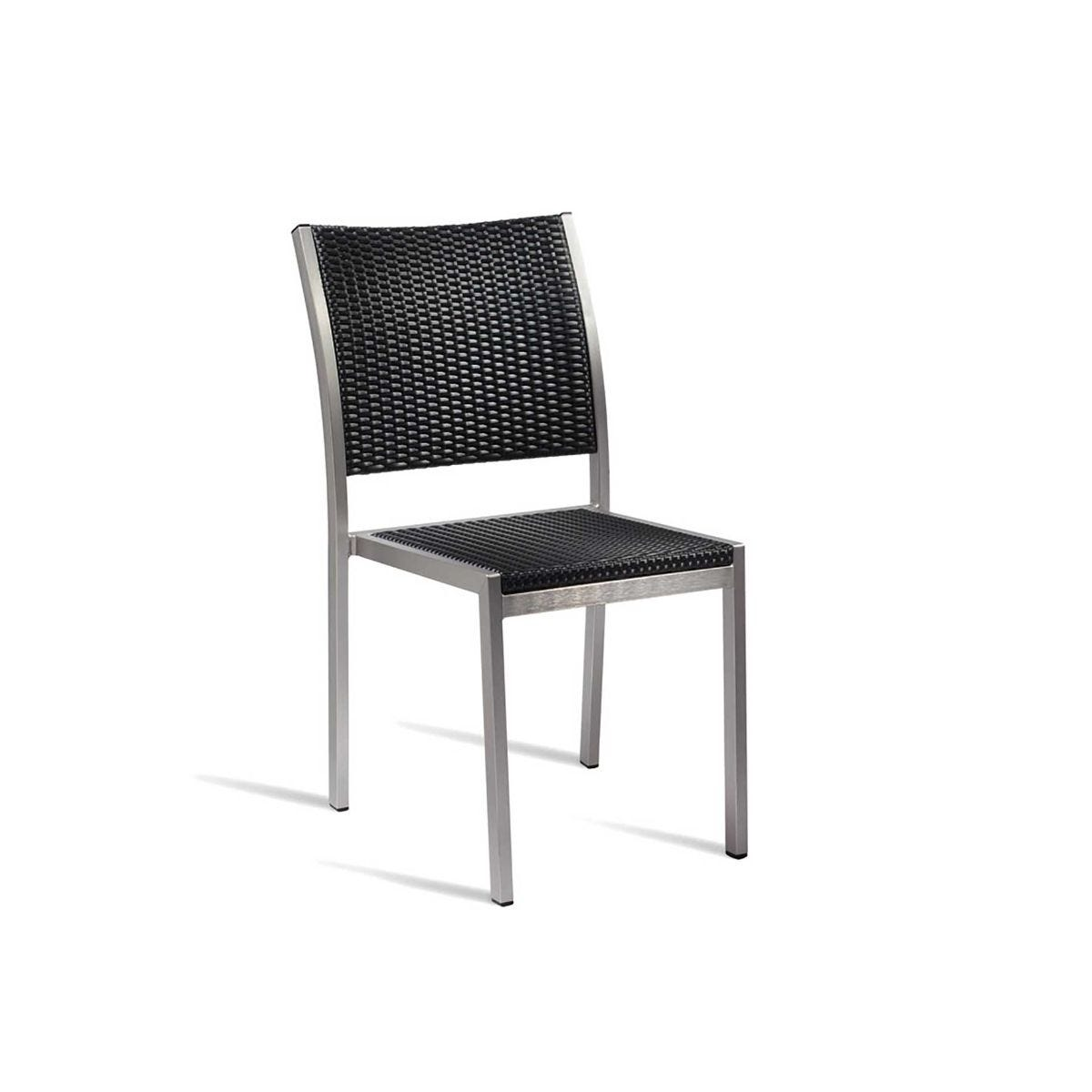 Sun Outdoor Side Chair, Black