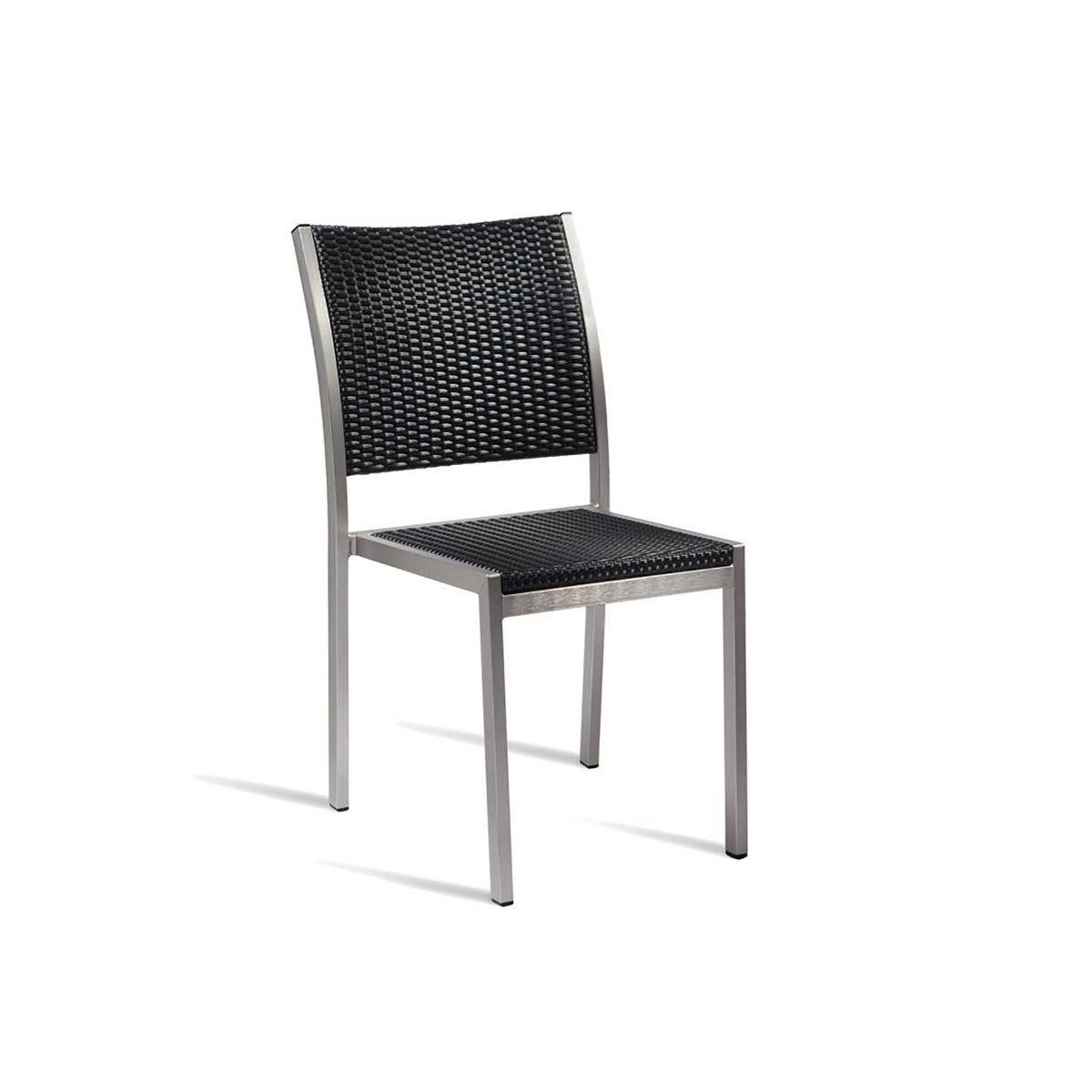 Sun Outdoor Side Chair, Black
