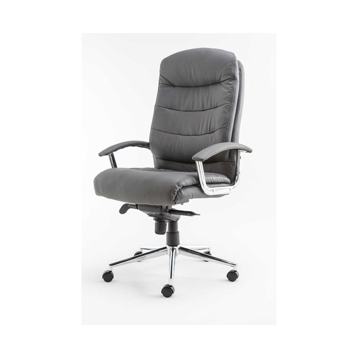 Alphason Empire Padded Leather Executive Office Chair, Grey