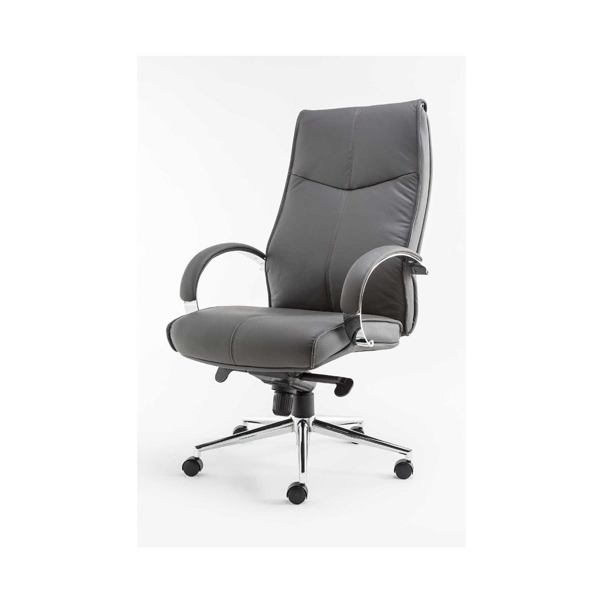Alphason Verona Modern Leather Executive Office Chair, Grey