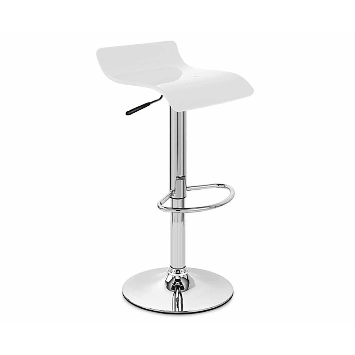 Alphason Shimmer Barstool Pack of 2, White