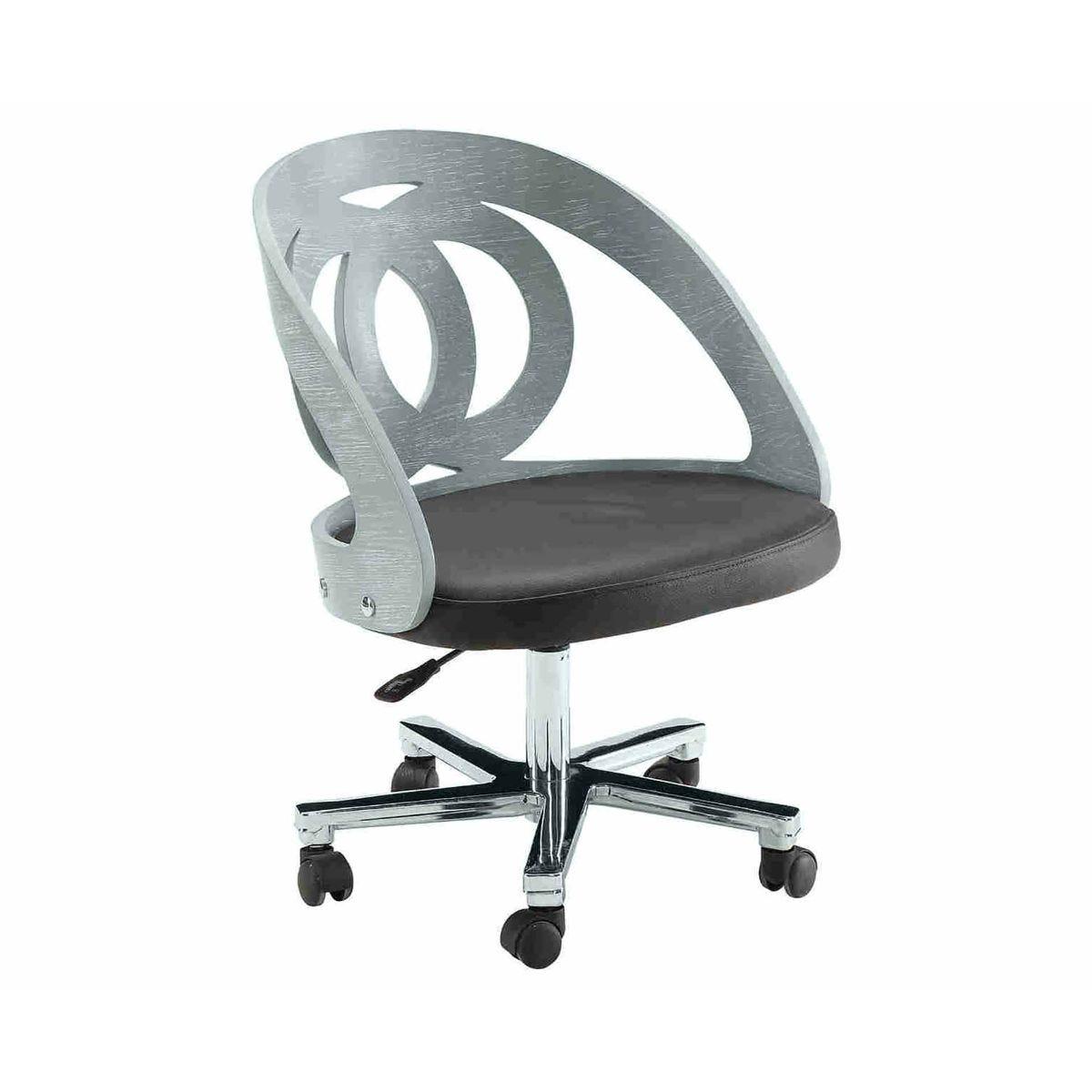 Jual Helsinki Wooden Swivel Office Chair, Grey