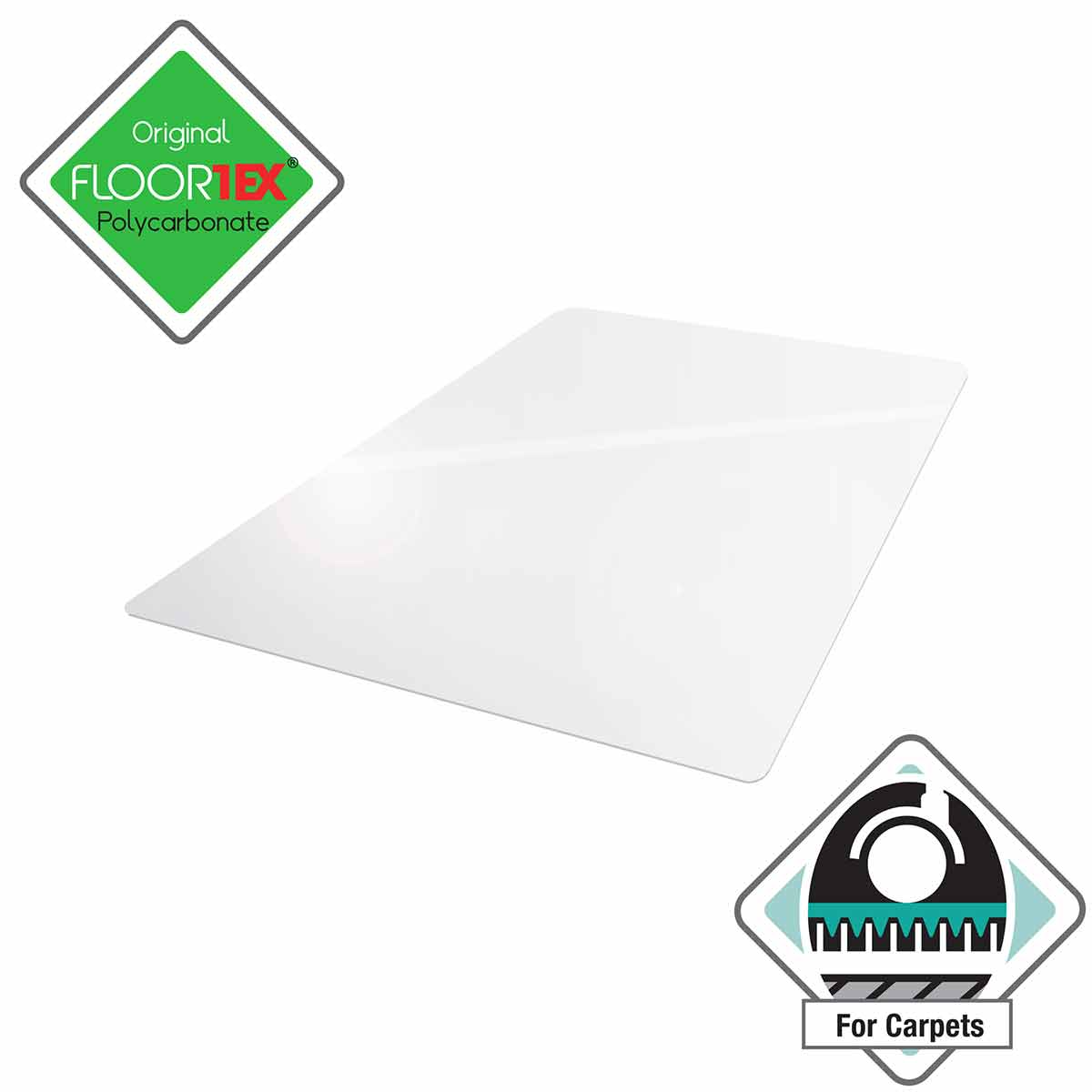 Phenomenal Cleartex Ultimat Chair Mat For Low And Medium Pile Carpet Rectangular 119 X 75Cm Home Interior And Landscaping Palasignezvosmurscom