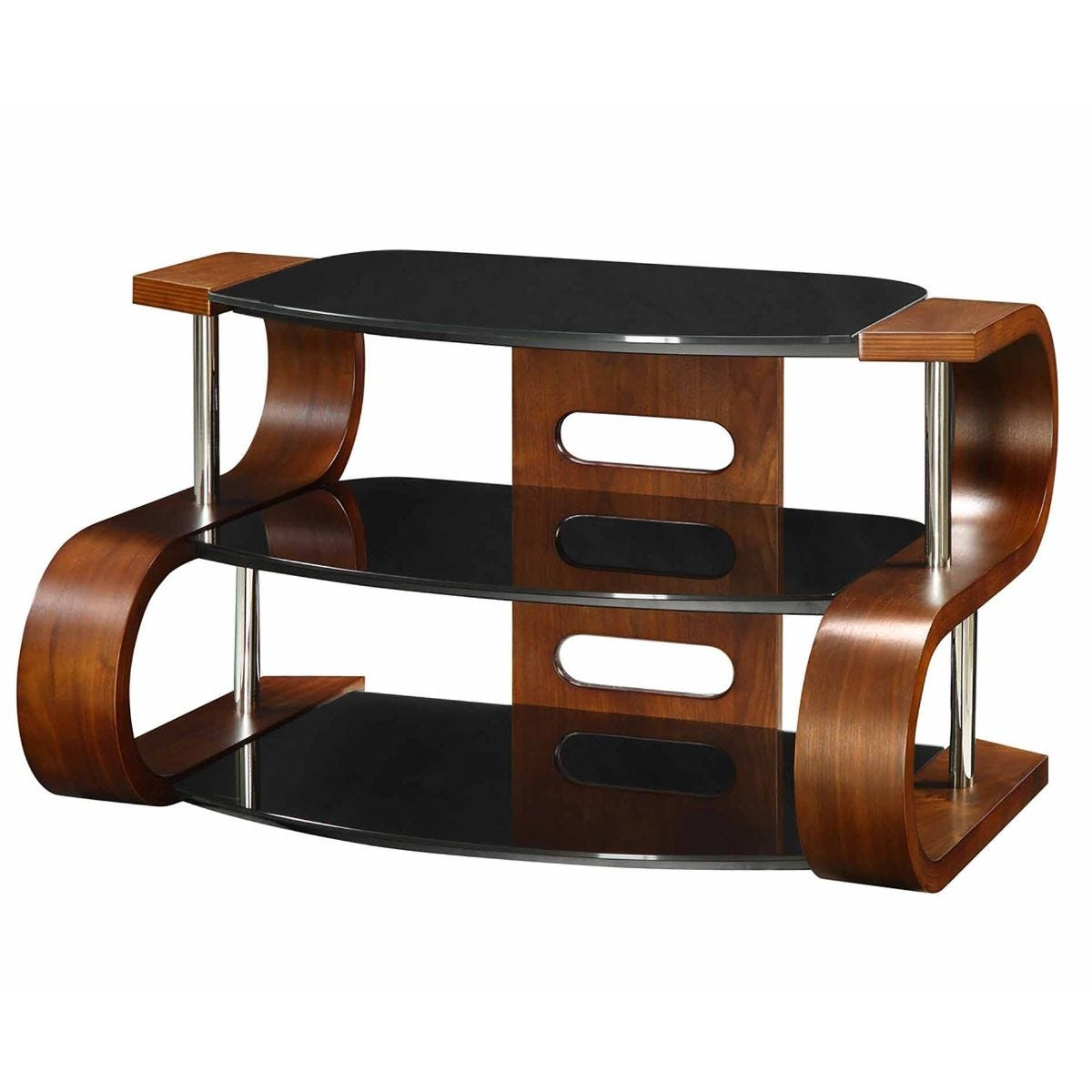 Jual Florence Curve TV Stand 1100mm, Walnut
