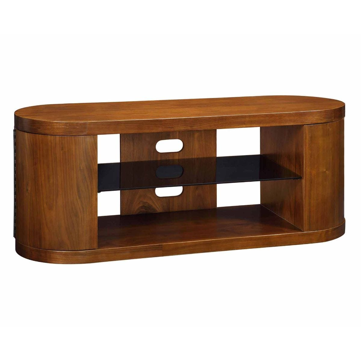 Jual Florence Curve Walnut TV Stand with Cupboards, Walnut