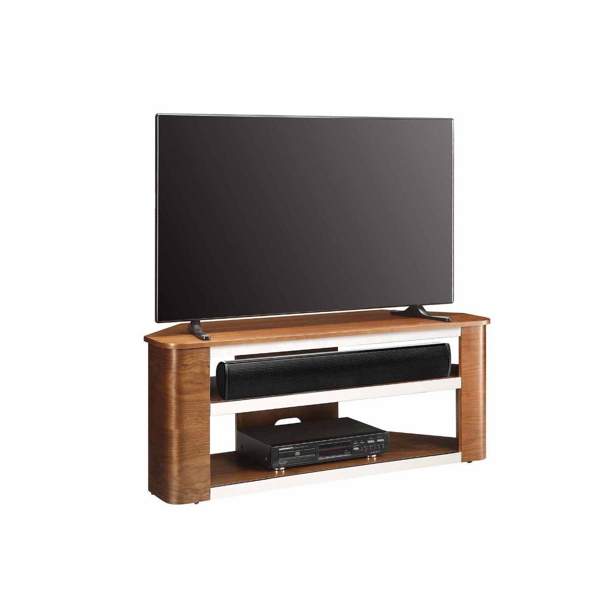 Jual Havana Curve Walnut Acoustic TV Stand, Walnut
