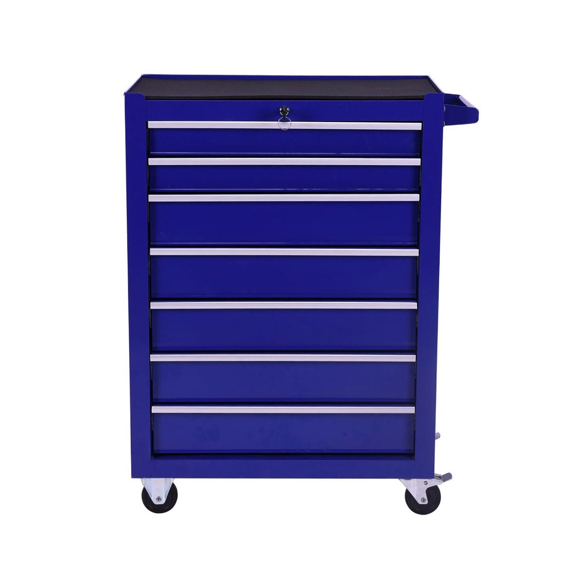 Charles Bentley Tool Box 7 Draw Rolling Cabinet, Blue