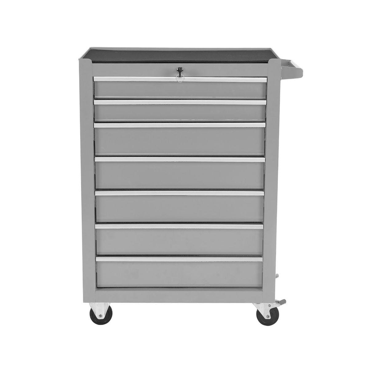 Charles Bentley Tool Box 7 Draw Rolling Cabinet, Grey