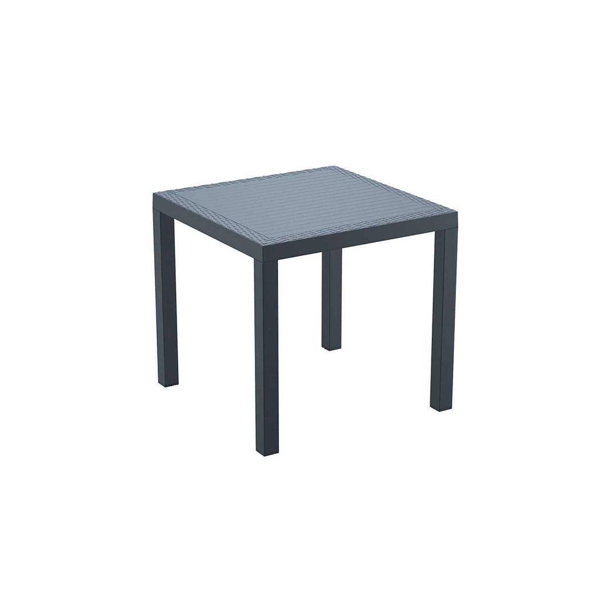 Ridge Indoor or Outdoor Table in Dark Grey, Dark grey