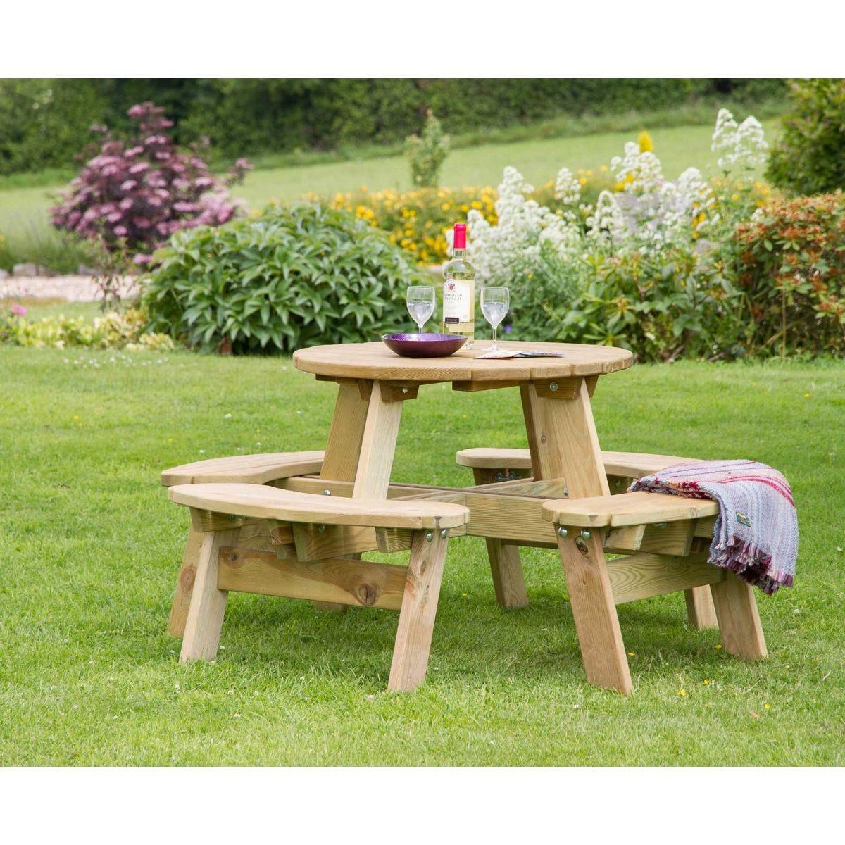 Katie Round Garden Picnic Table
