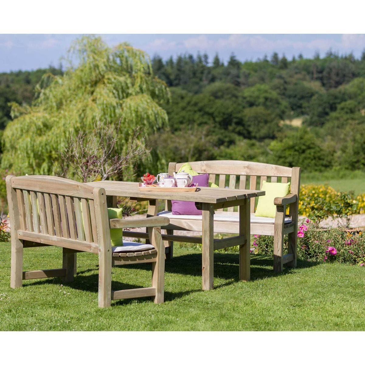 Zest4Leisure Emily Garden Table And Bench Set