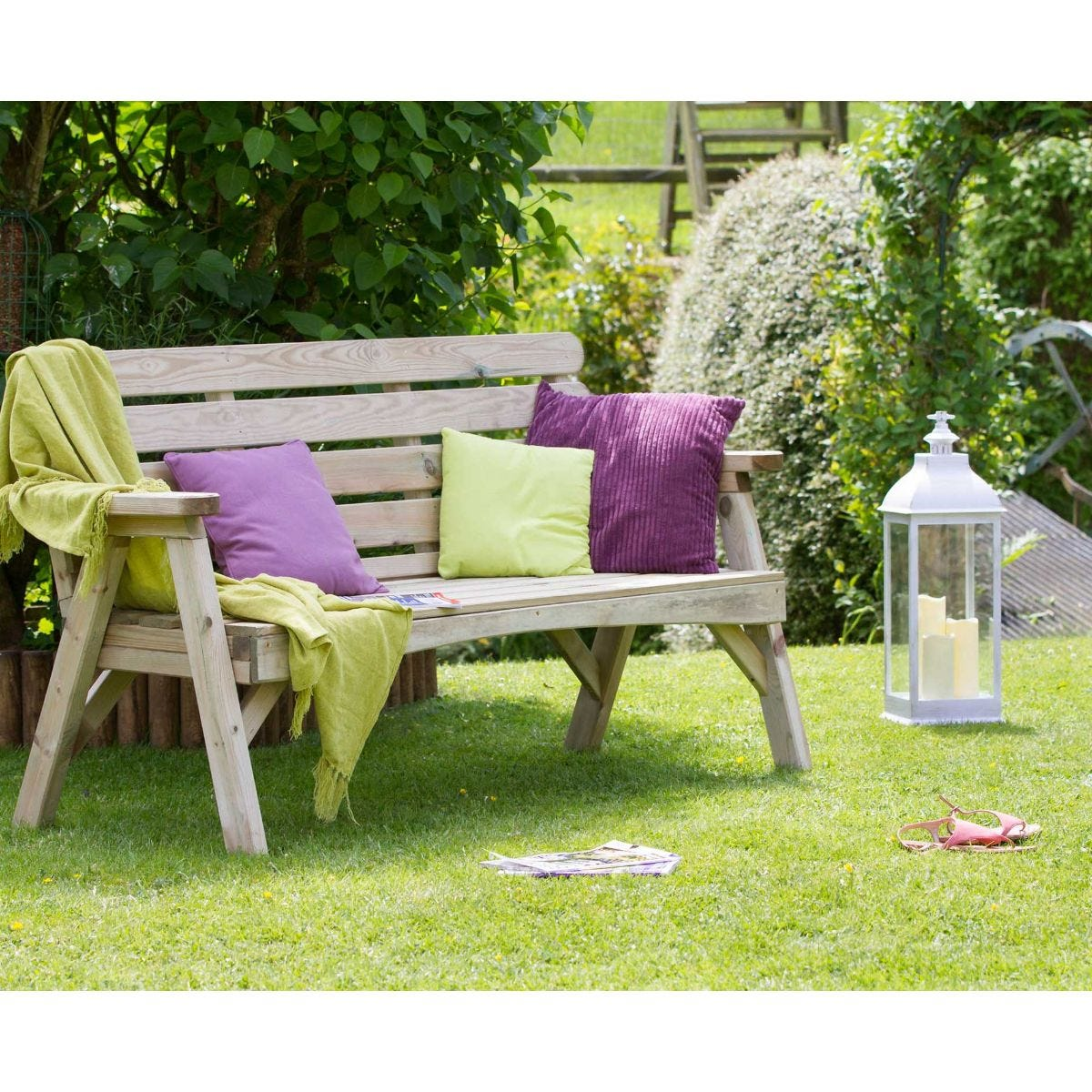 Zest4Leisure Abbey 3 Seater Garden Bench