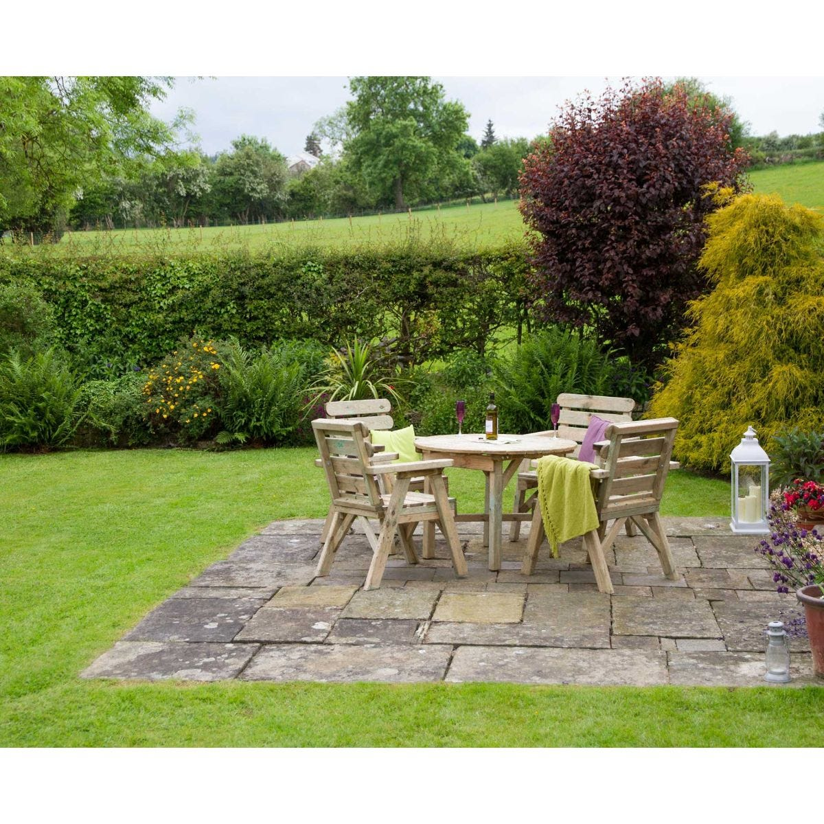 Zest4Leisure Abbey Round Garden Table And 4 Chair Set