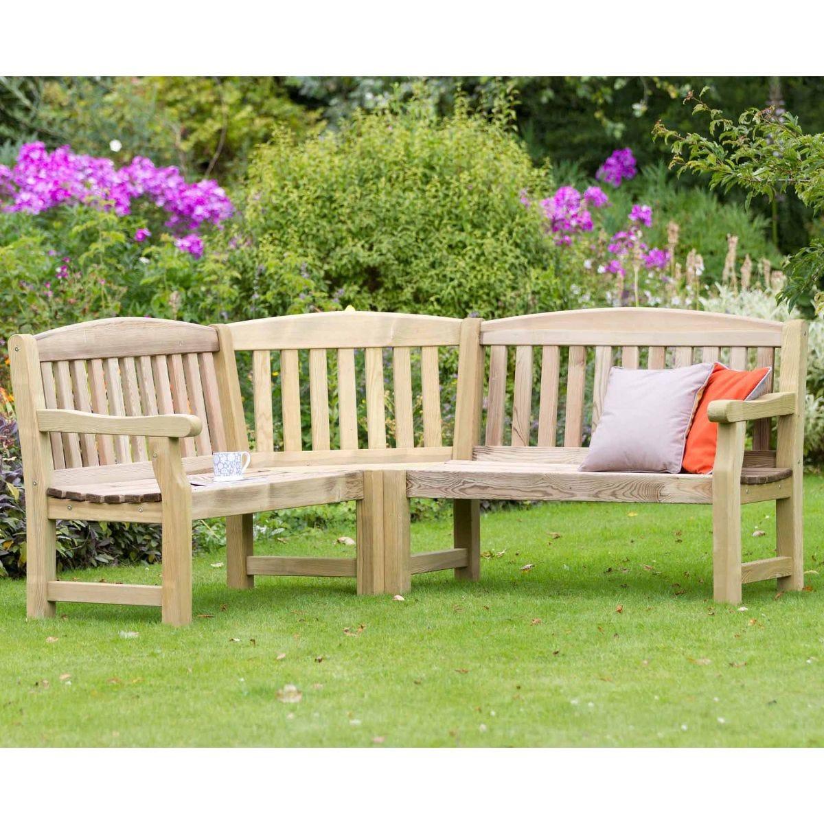 Emily Corner Garden Bench