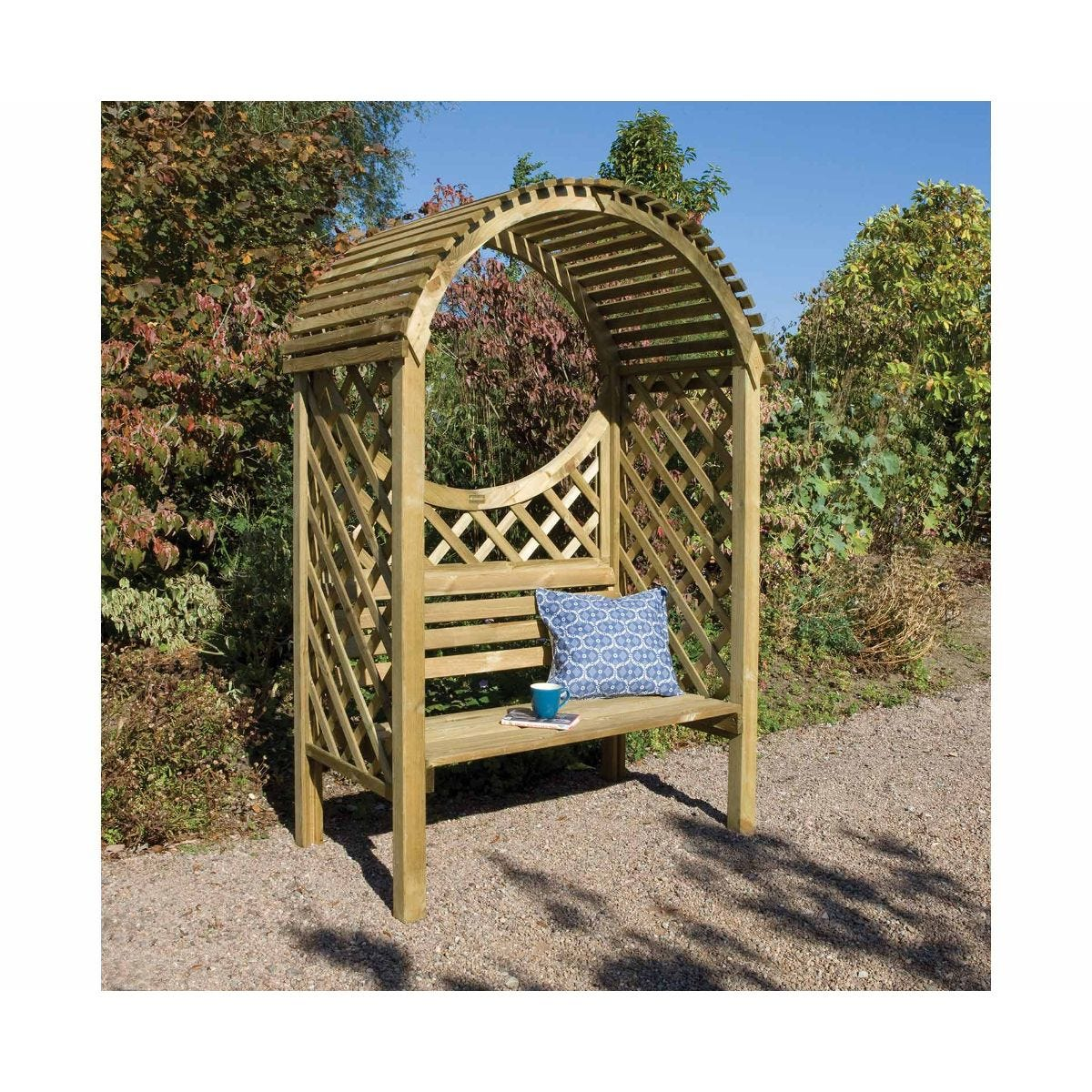 Rowlinson Keswick Arbour Garden Furniture, Natural