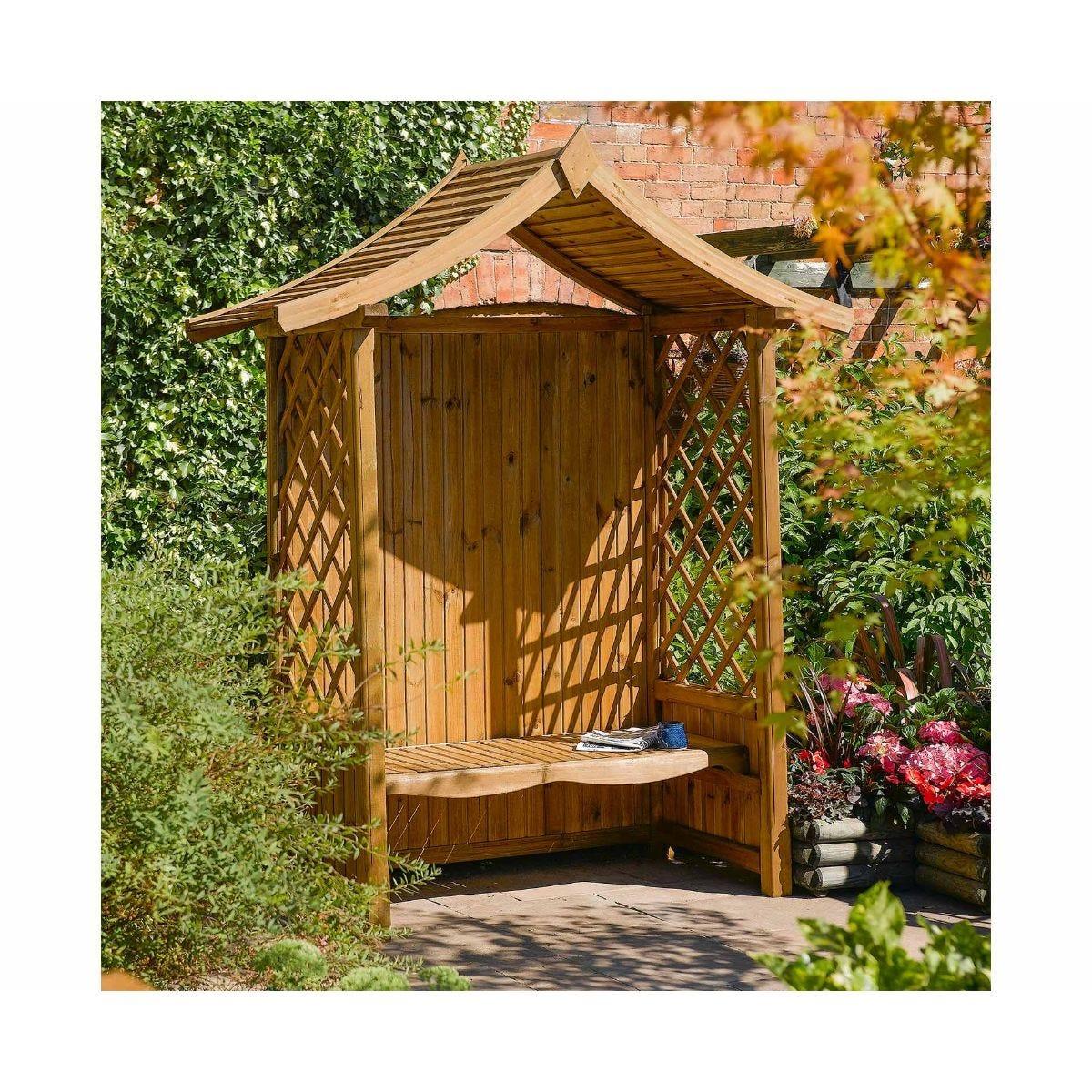 Rowlinson Tenbury Arbour Garden Furniture, Natural