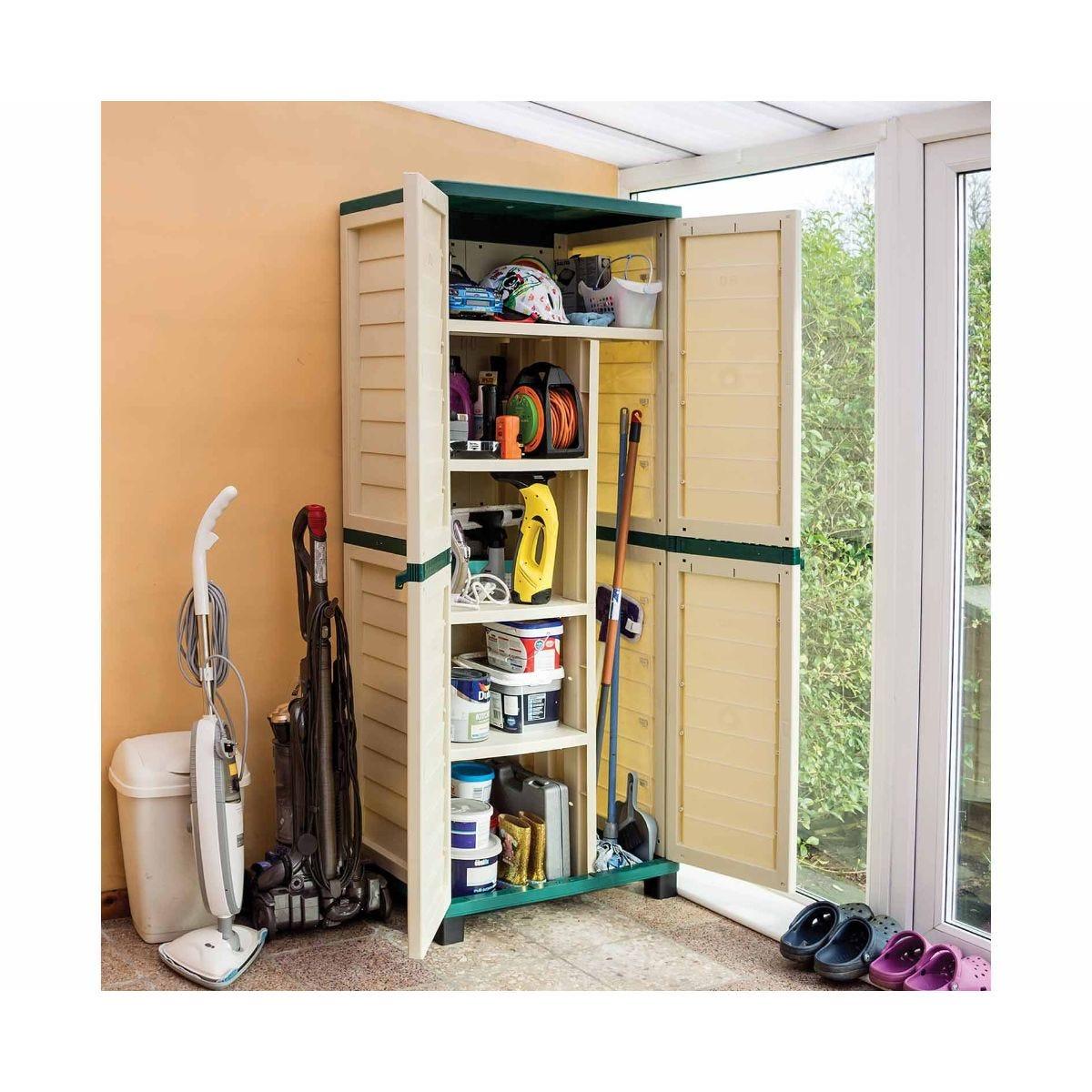 Rowlinson Plastic Garden Utility Store Cupboard, Green