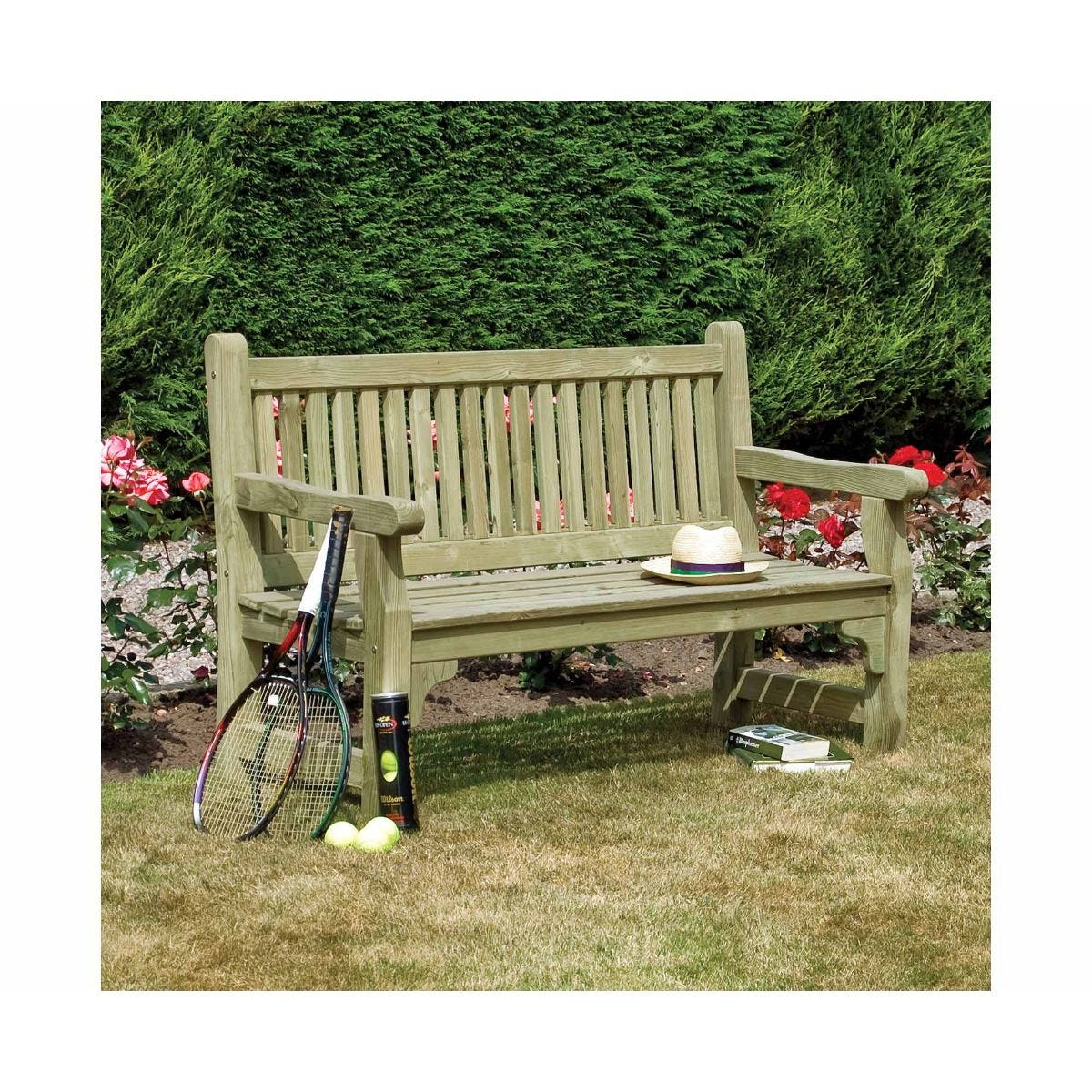 Rowlinson Softwood Garden Bench, Natural