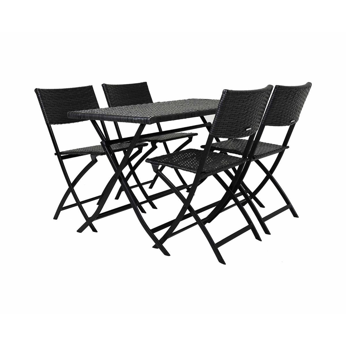 Charles Bentley Amalfi 4 Seater Rattan Garden Dining Set, Grey