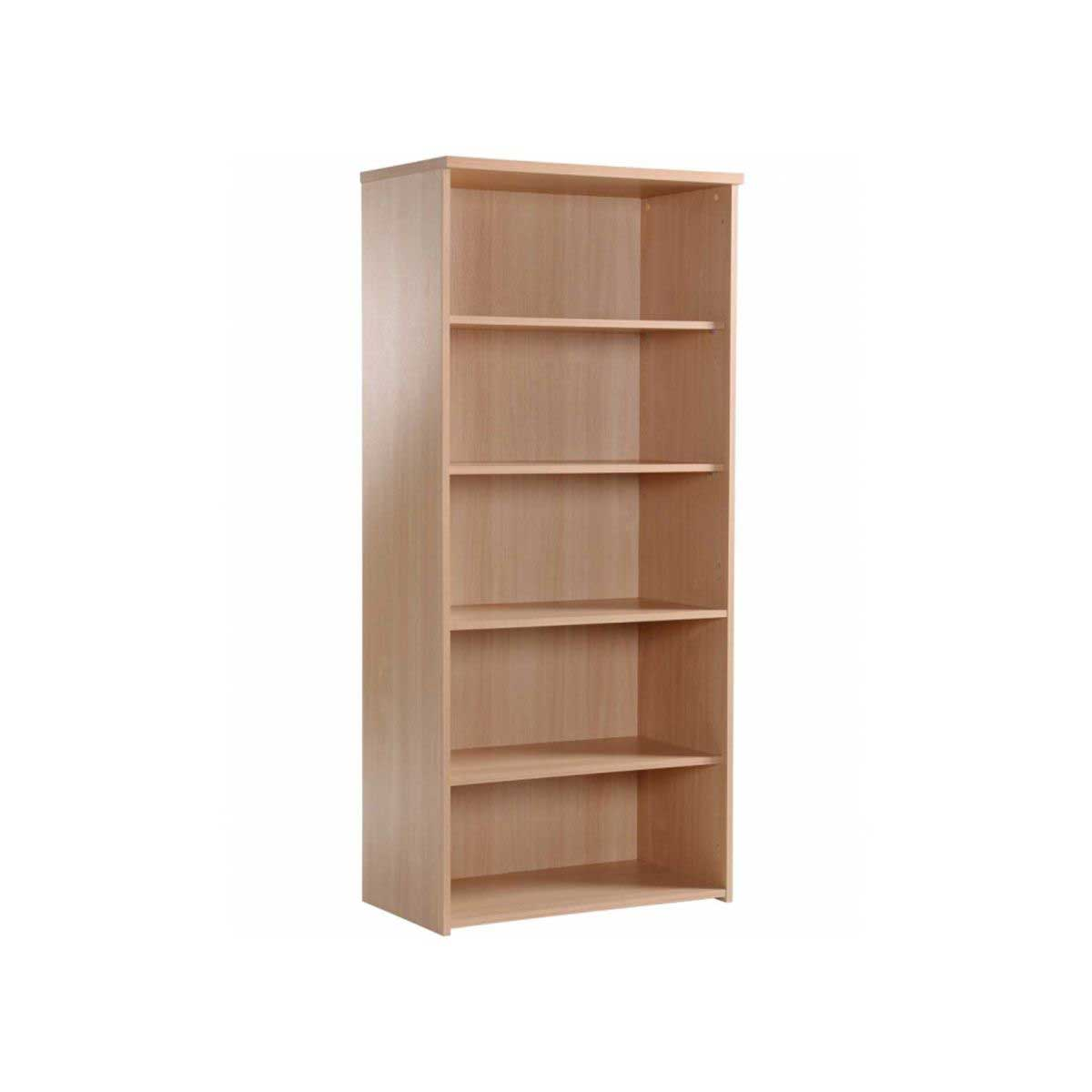 Momento Tall Bookcase 5 Shelf, Woodland Beech