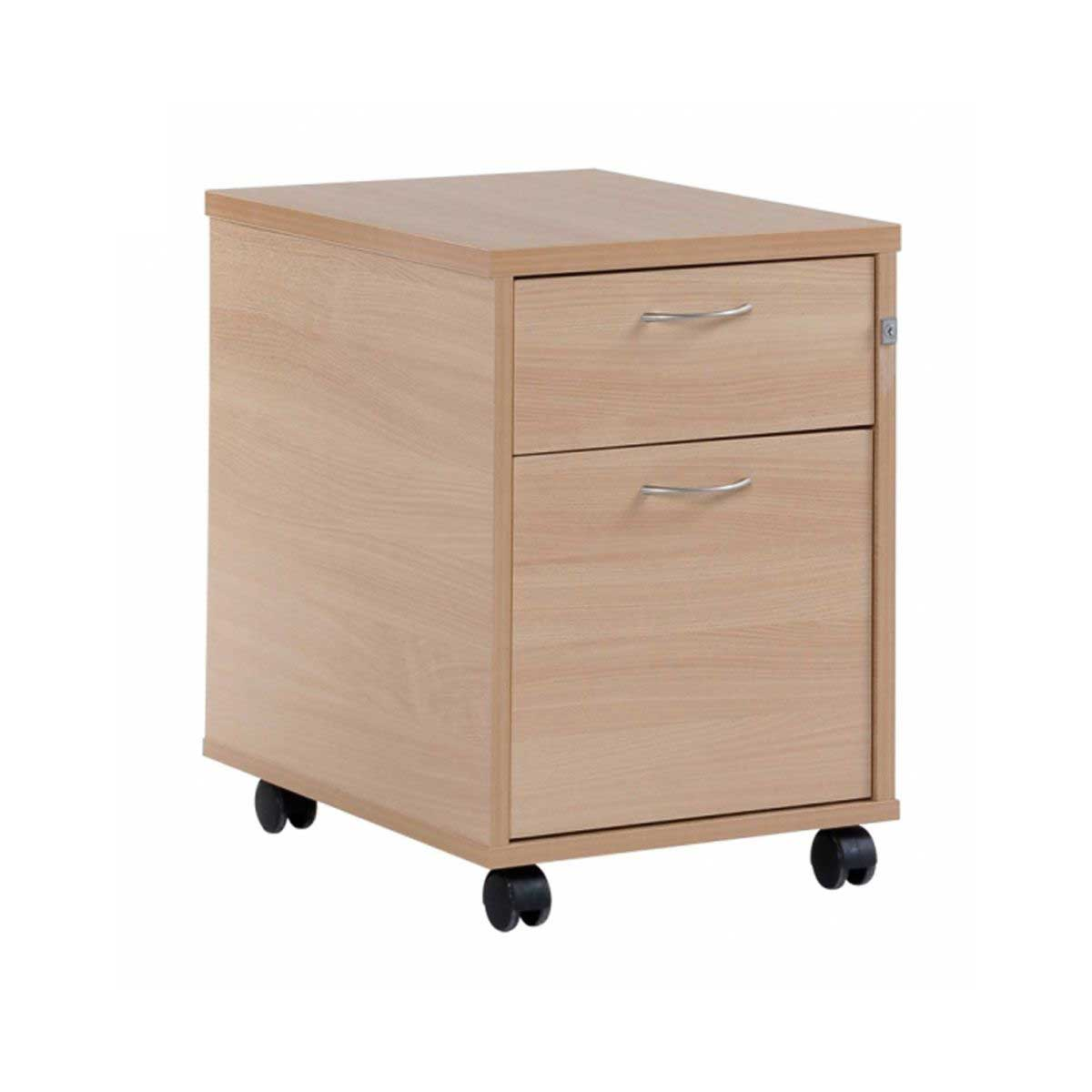 Image of 2 Drawer Mobile Pedestal, Woodland Beech