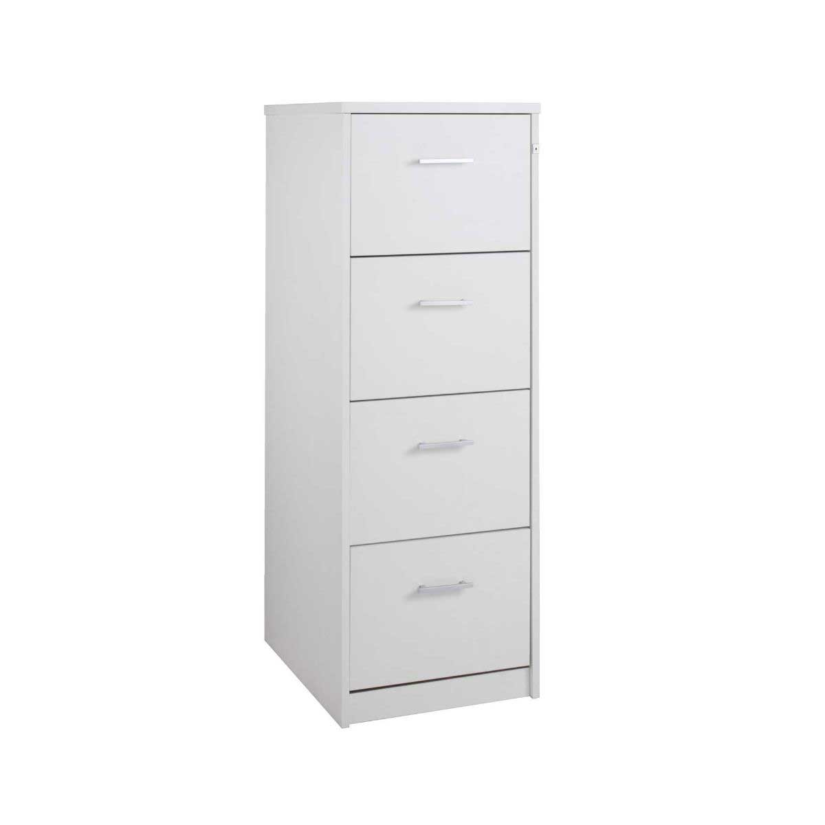 Momento Deluxe 4 Drawer Filing Cabinet, White