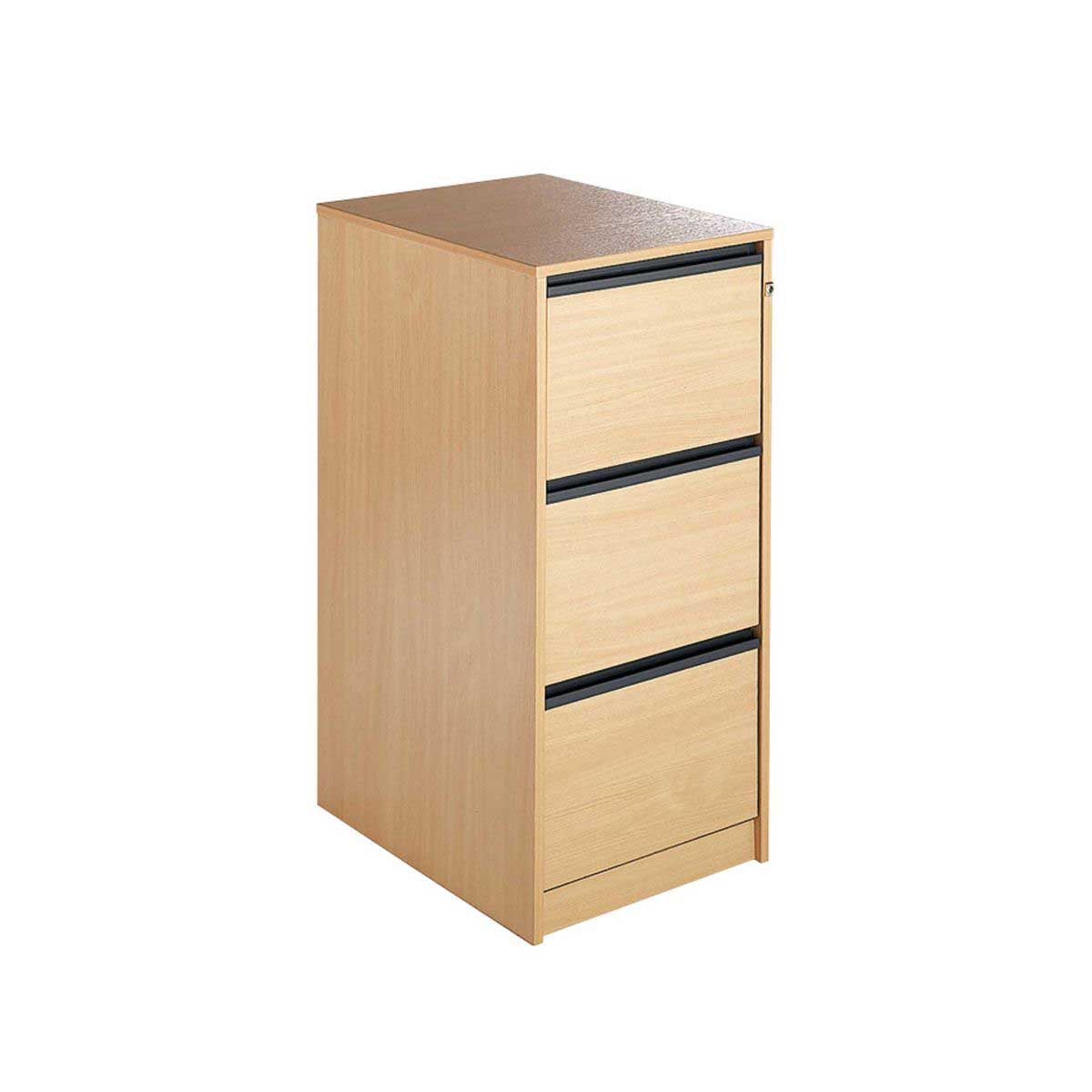 Maestro 3 Drawer Filing Cabinet, Beech Effect