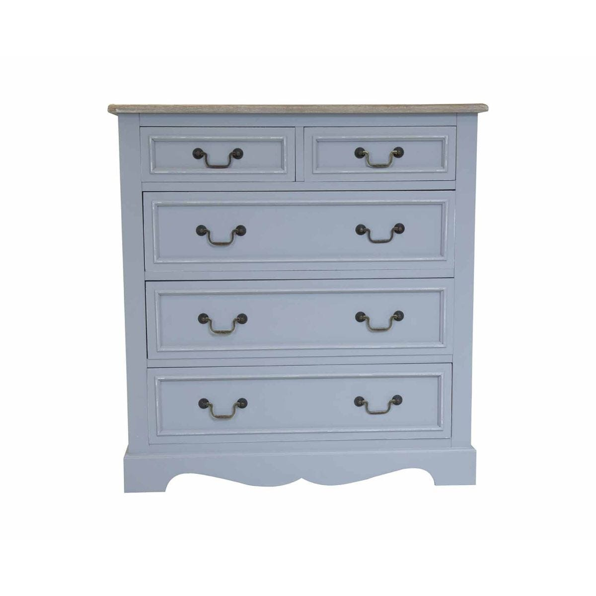 Charles Bentley Loxley Grey Chest Of Drawers, Grey