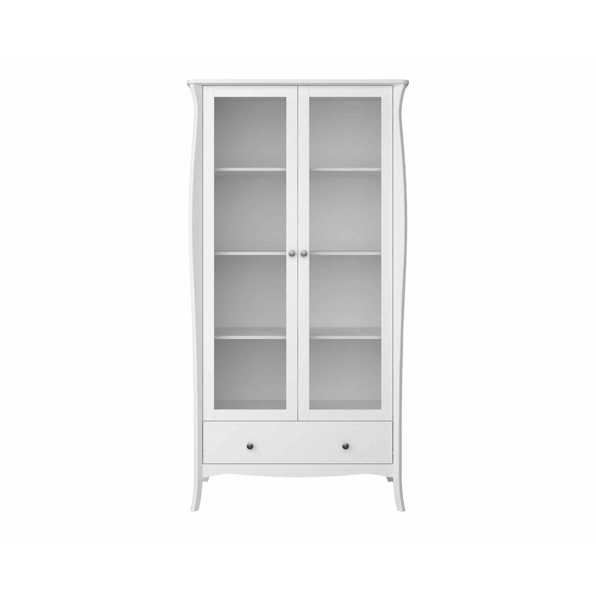 Steens Baroque Glazed Display Cabinet, White