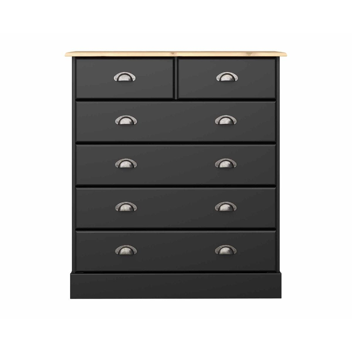 Steens Nola 2 Over 4 Chest of Drawers, Black