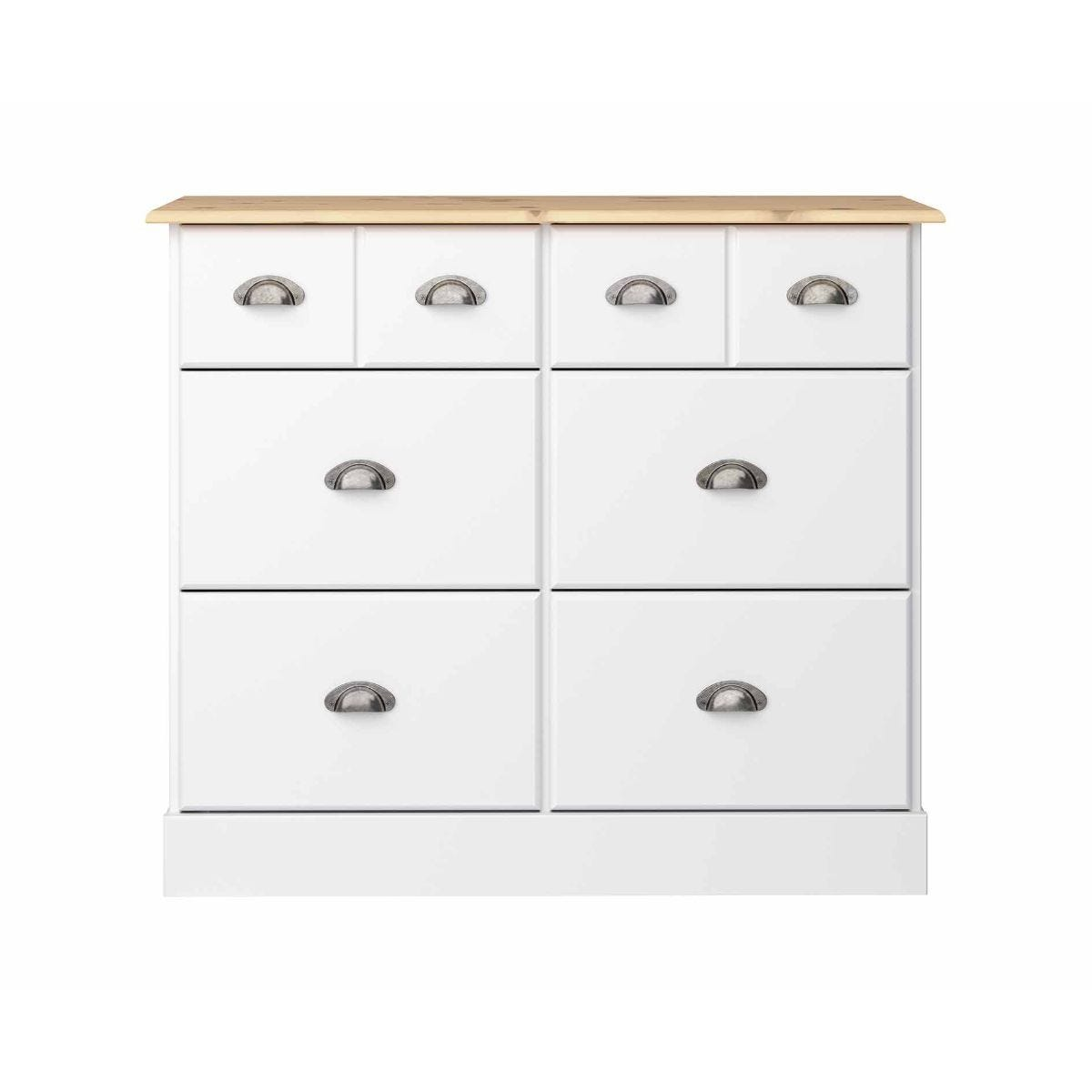 Steens Nola 4 Over 4 Wide Chest of Drawers, White