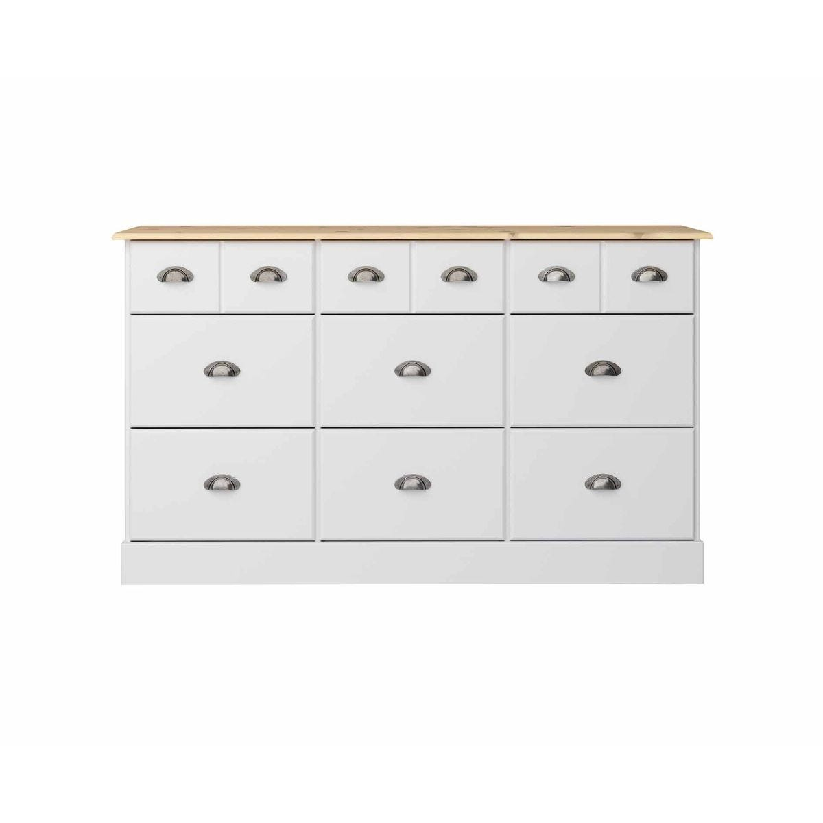 Steens Nola 6 Over 6 Extra Wide Chest of Drawers, White