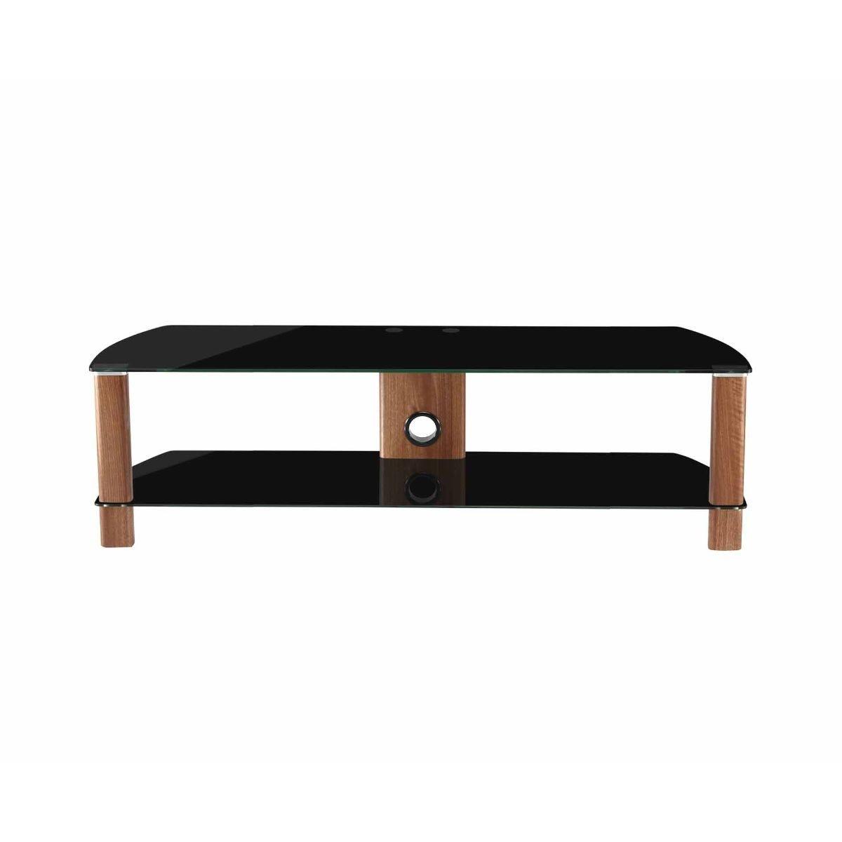 Alphason Century 1500 2 Shelf TV Stand Black Glass, Black