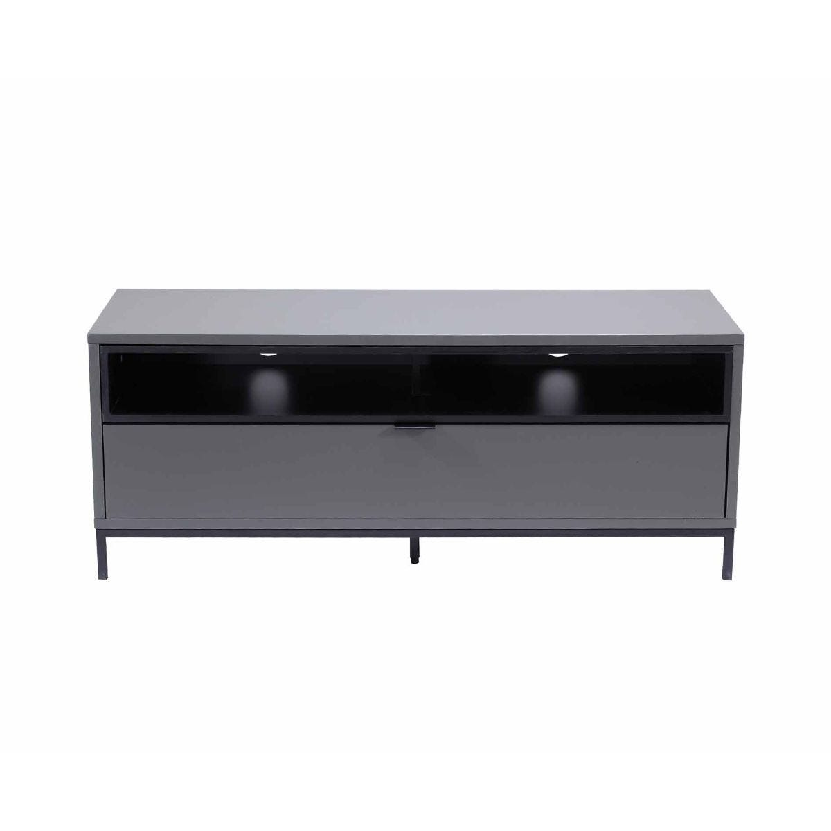 Alphason Chaplin 1135 TV Cabinet Black, Black