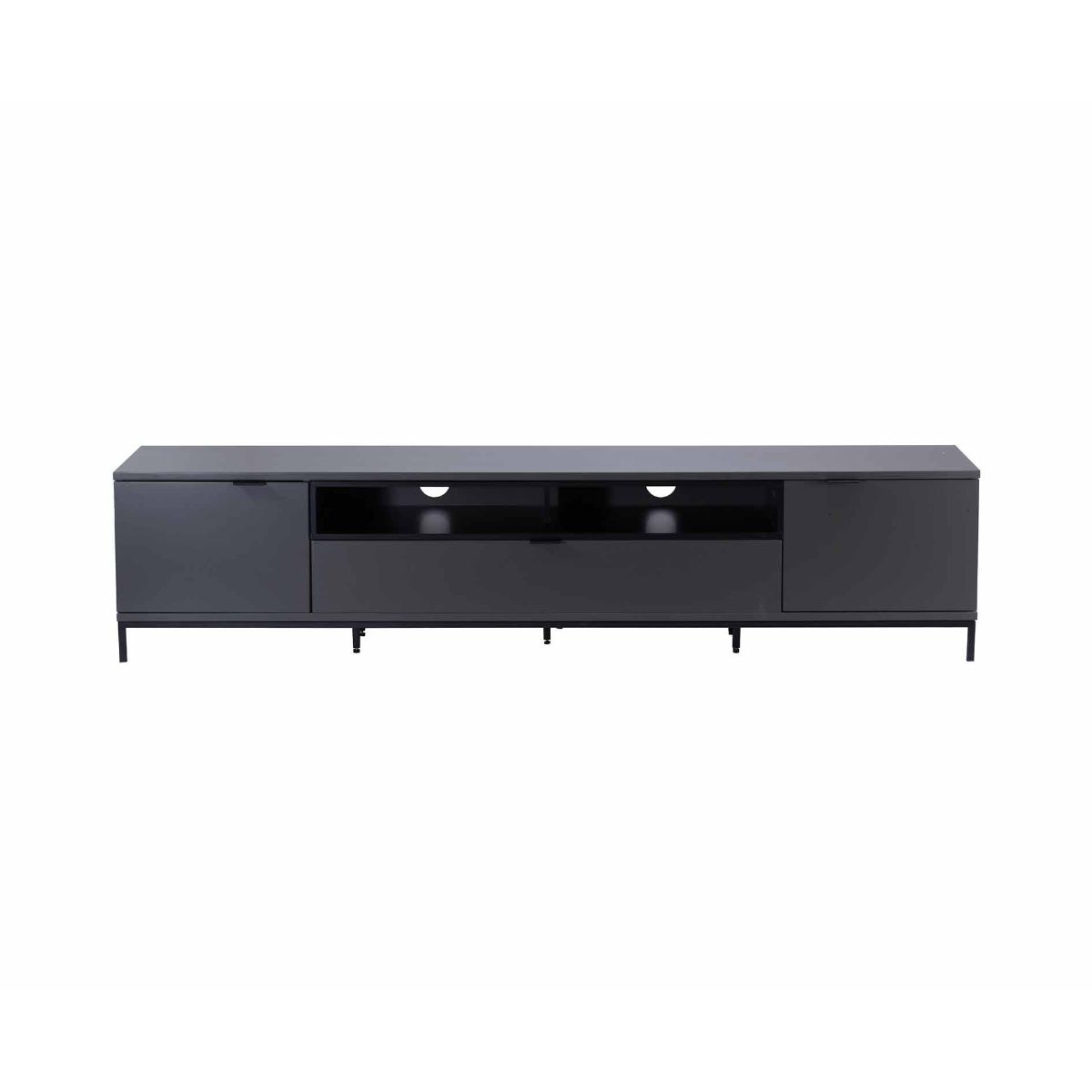 Alphason Chaplin 2000 TV Cabinet Black, Black
