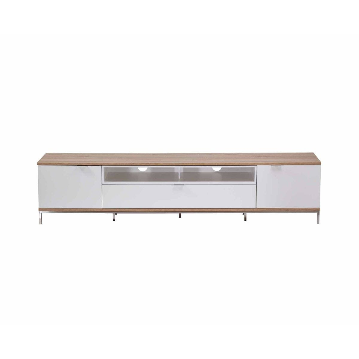 Alphason Chaplin 2000 TV Cabinet White, White
