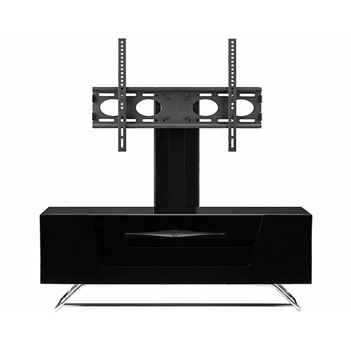 Alphason Chromium 1000 TV Cabinet with Bracket, Black