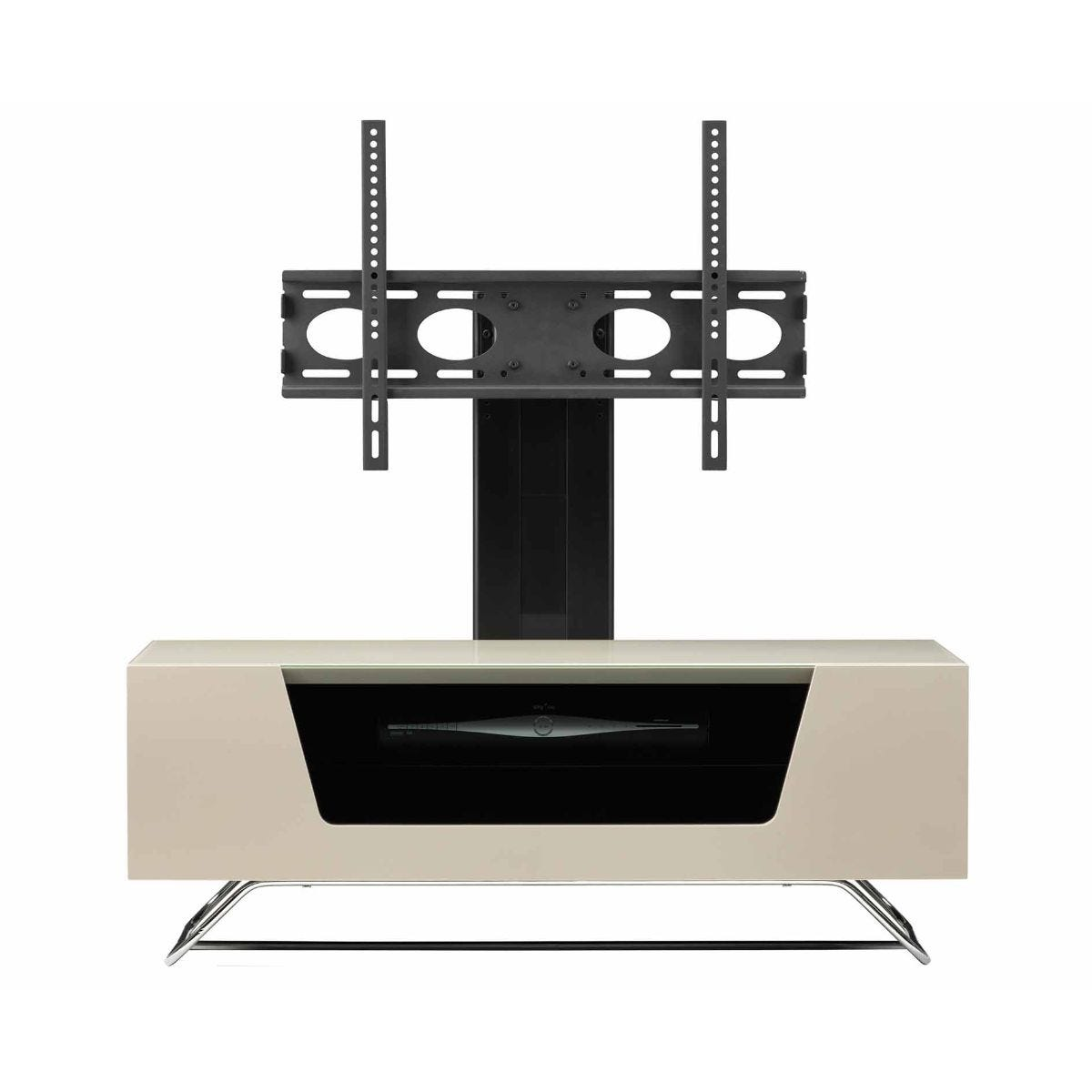Alphason Chromium 1000 TV Cabinet with Bracket, Ivory