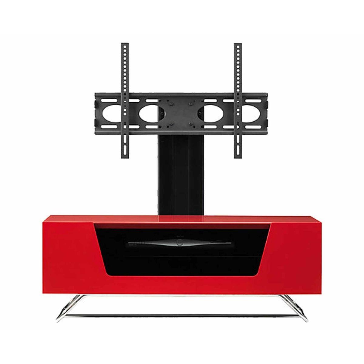 Alphason Chromium 1000 TV Cabinet with Bracket, Red