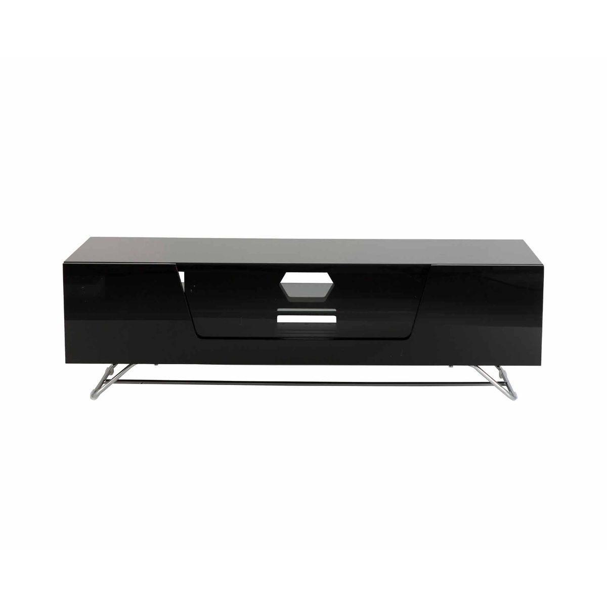 Alphason Chromium 1200 TV Cabinet, Black