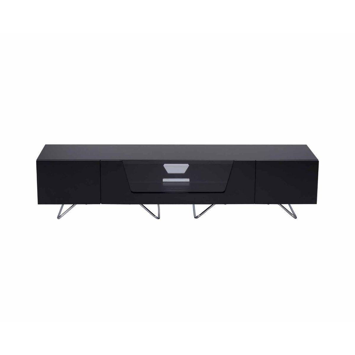 Alphason Chromium 1600 TV Cabinet, Black