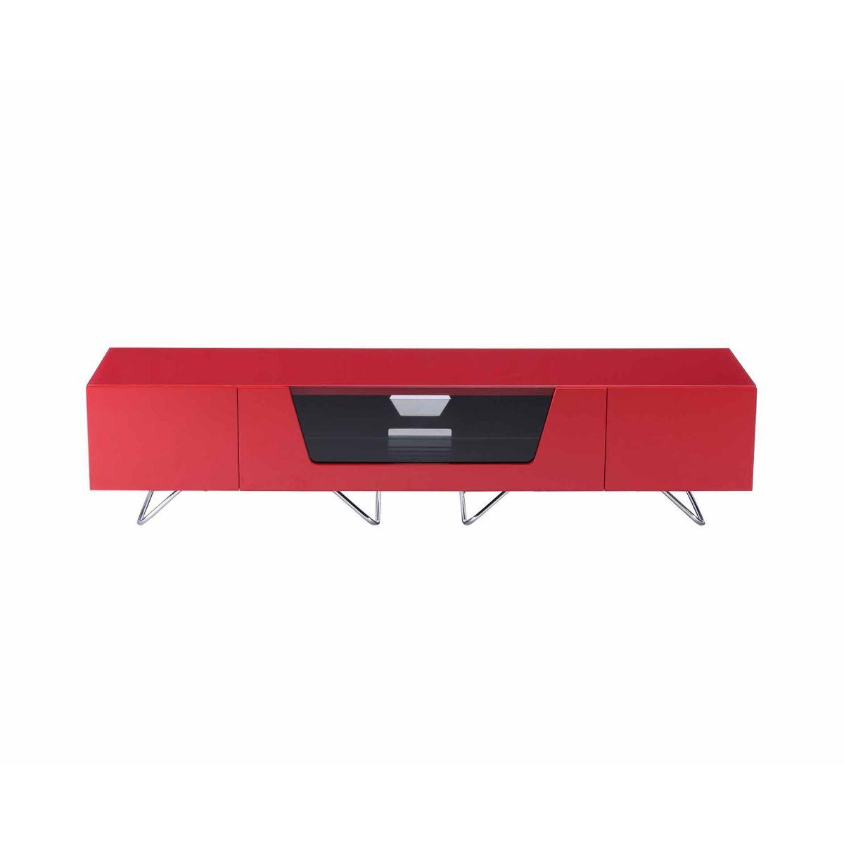 Alphason Chromium 1600 TV Cabinet, Red