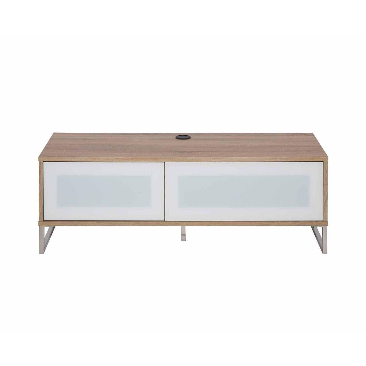 Alphason Helium Wall 1200 TV Cabinet Wood Effect, Oak/White