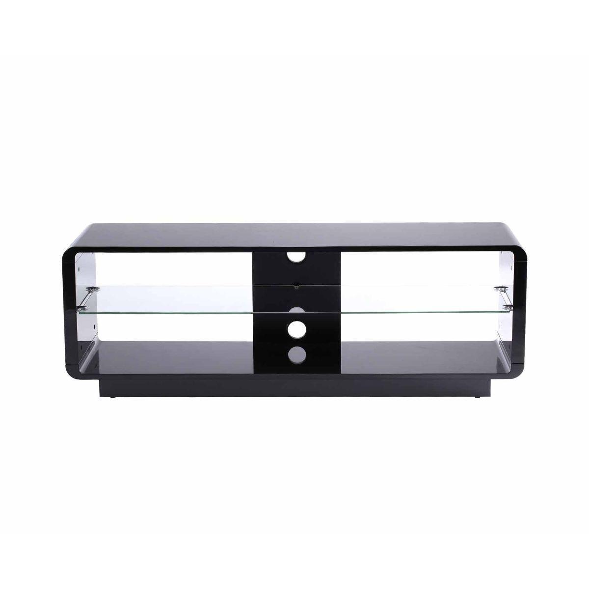 Alphason Luna 1400 TV Stand, Black