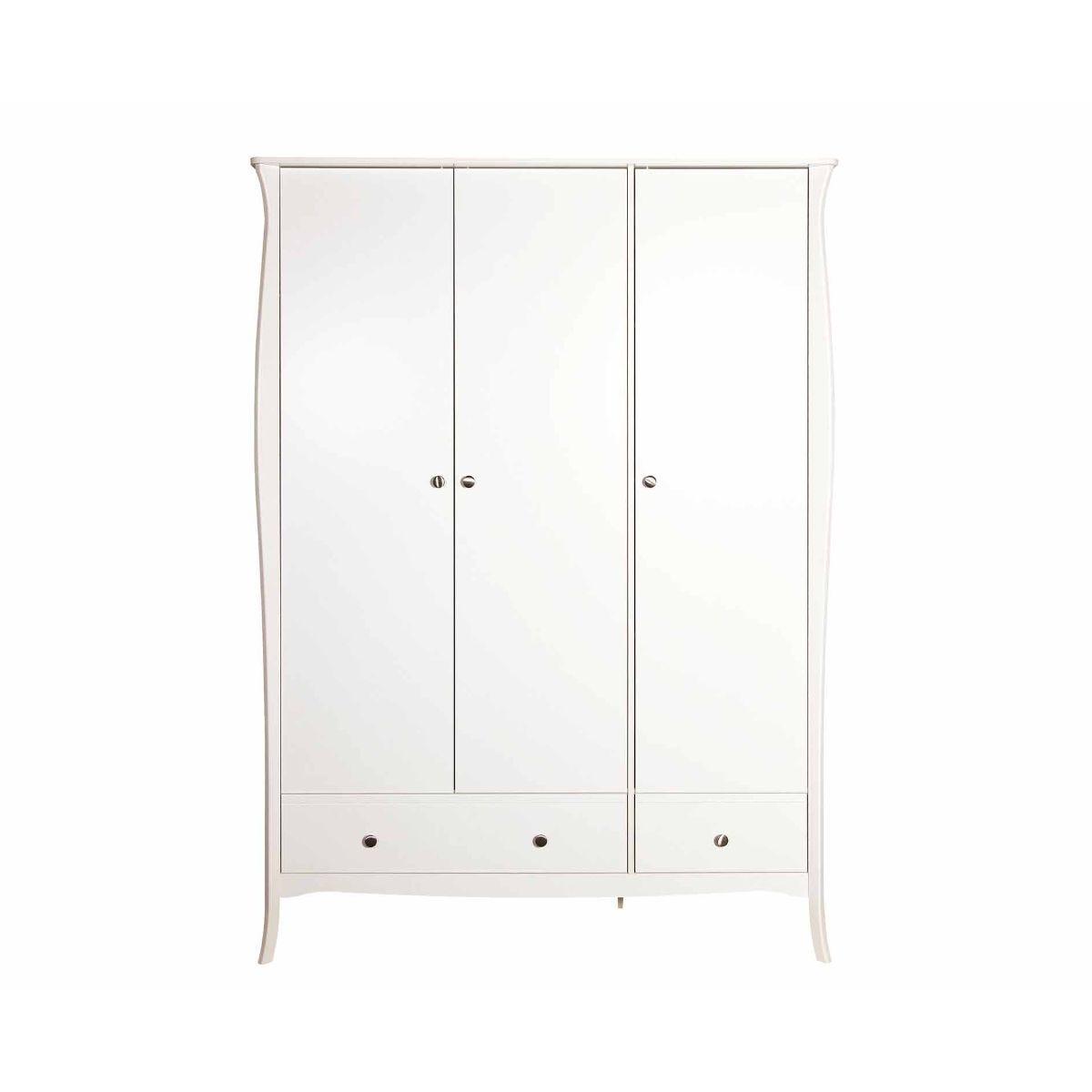 Steens Baroque 3 Door Wardrobe, White