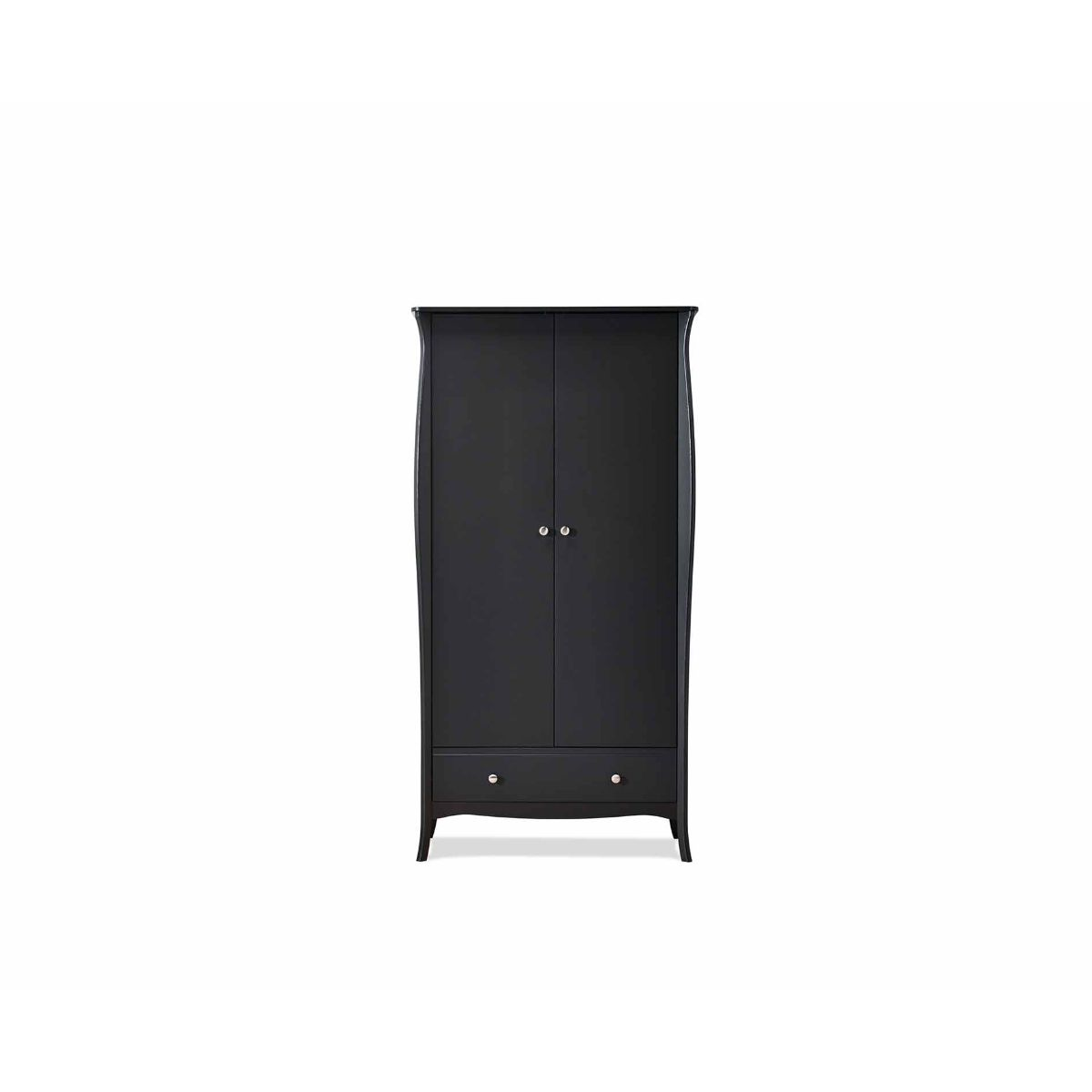 Steens Baroque 2 Door Wardrobe, Black
